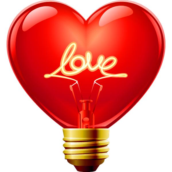 Smileys clipart love heart Light Love Bulb Icons and