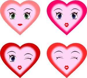 Hearts clipart smiley face Online Faces art com at
