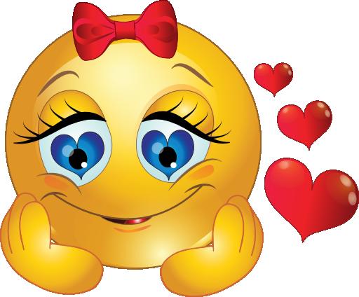 Smileys clipart love heart Smiley Girl Like Eye and