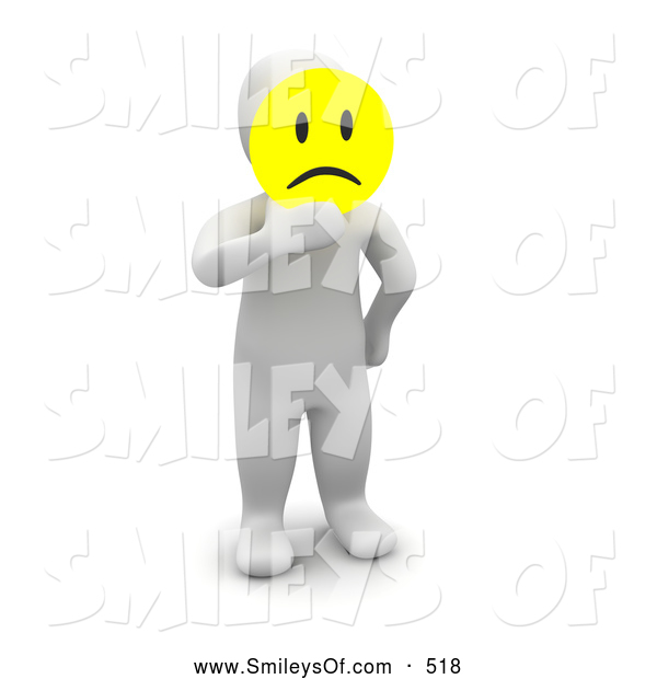 Smileys clipart man On Pouting Holding A3d Man
