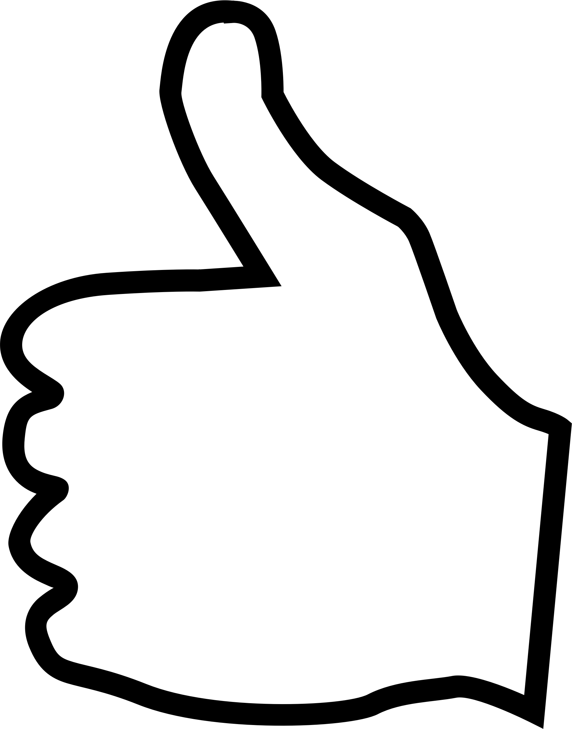 White clipart thumbs up Clipart art thumbs clip Thumbs