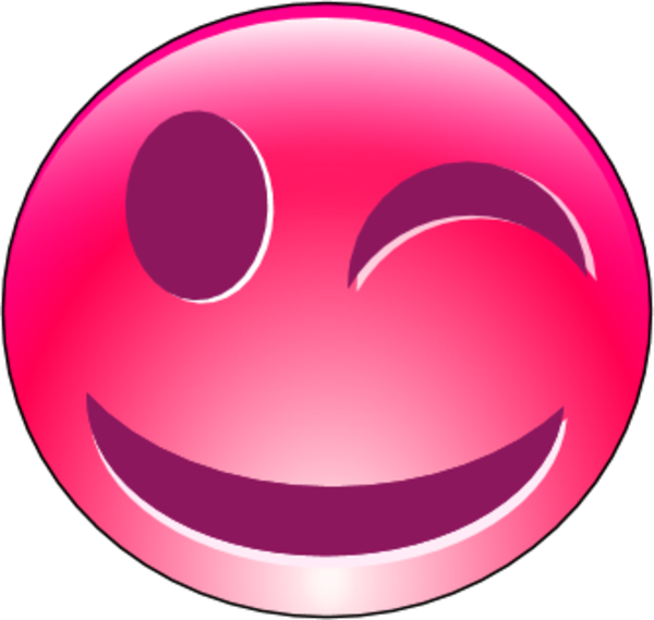 Smileys clipart pink Face clip Art Smiley closed