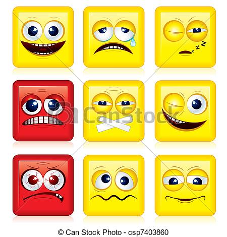 Squares clipart smiley face Yellow Clipart shaped Vector