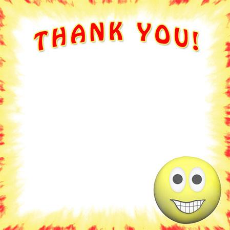 Smileys clipart thank you Free Thank You Border Clip