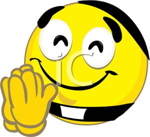 Smileys clipart thanks Smiley Face Showing Clip Thank