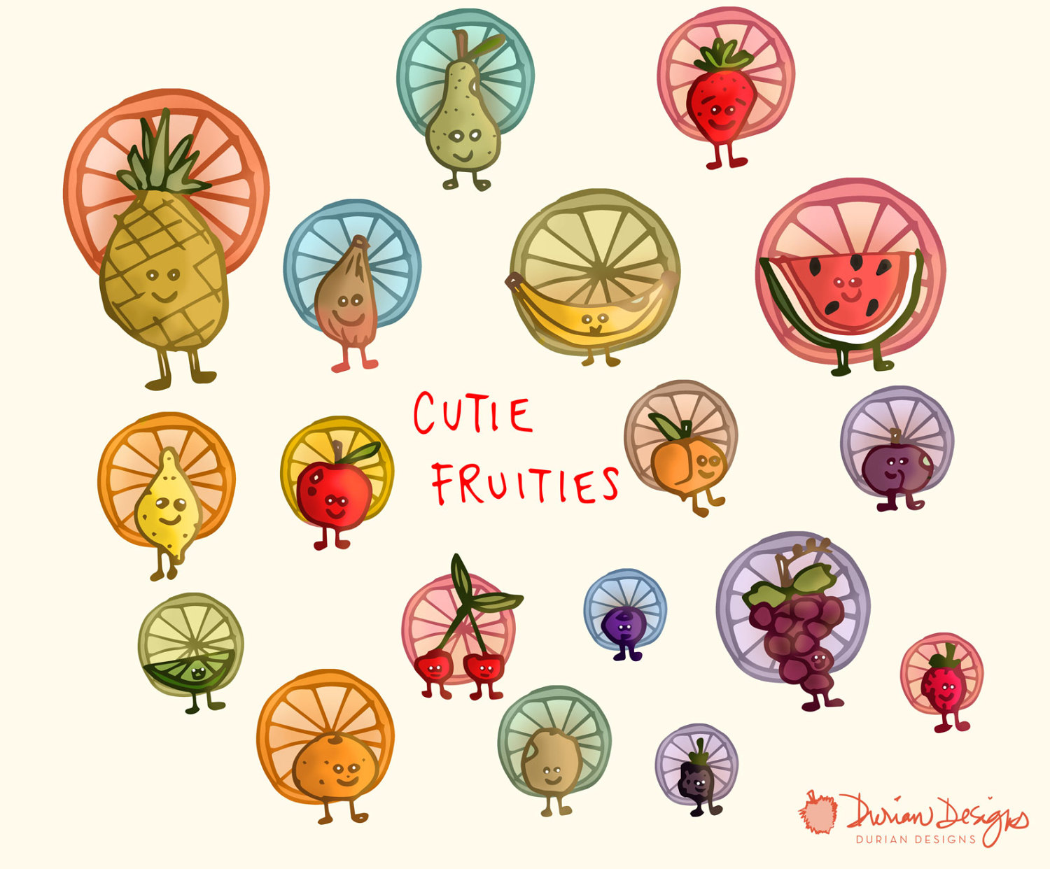 Blueberry clipart cute fruit Clipart  a is face
