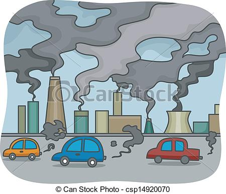 Factory clipart environmental pollution Of Vectors Air of