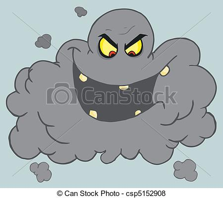 Smog clipart cloud shape Cloud Vector Black csp5152908 Smog