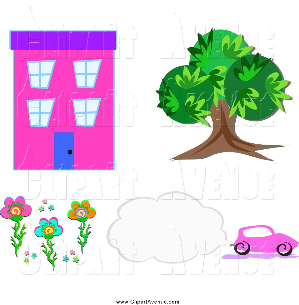 Smog clipart Designs Flowers and Tree Royalty