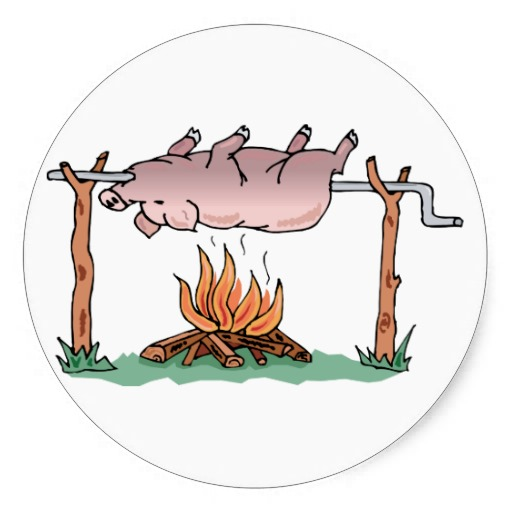 Barbecue clipart bbq smoke Spit Pig Smoker ~ Smoke