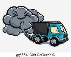 Smoking clipart car exhaust Cartoon sign truck  truck