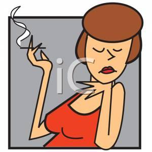 Cigarette clipart smoking cigarette A Woman Clipart Cigarette Smoking