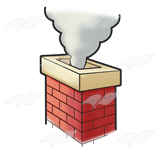 Smoking clipart chimney smoke Smoke Abeka Brick Red Chimney—with