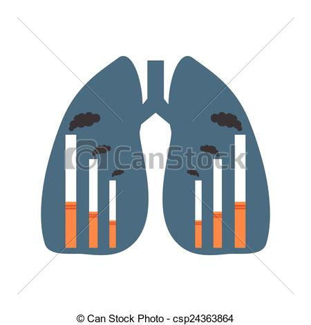 Smoking clipart factory smoke  csp24363864 factories Lungs of