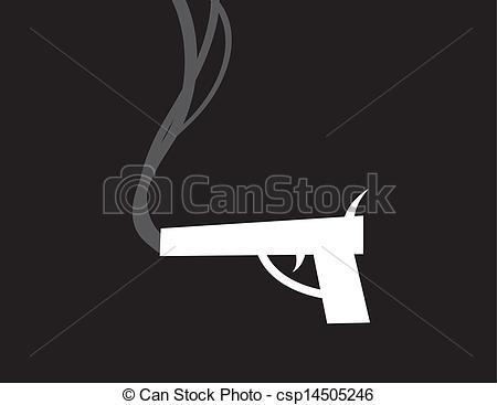 Smoking clipart gun smoke Csp14505246 of  smoking Gun