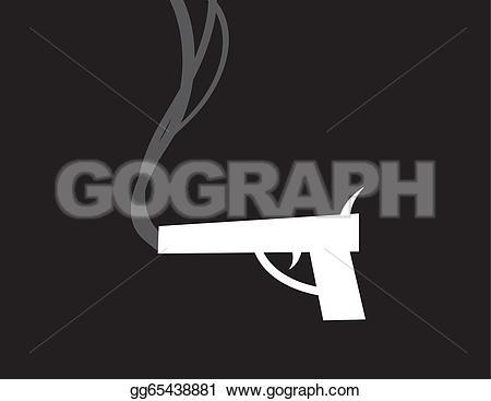 Smoking clipart gun smoke Art silhouette being Gun Stock