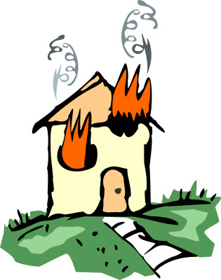 Smoking clipart house fire Library Clip Free on House
