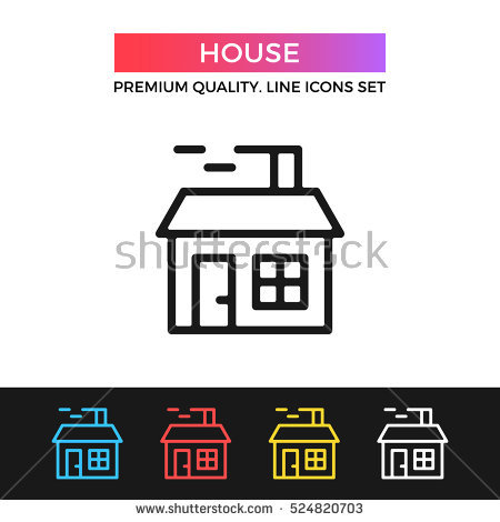 Smoking clipart house outline With Clip house outline Stock