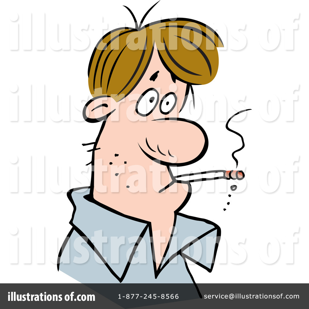 Smoking clipart illustration By by #1275460 Smoking Clipart