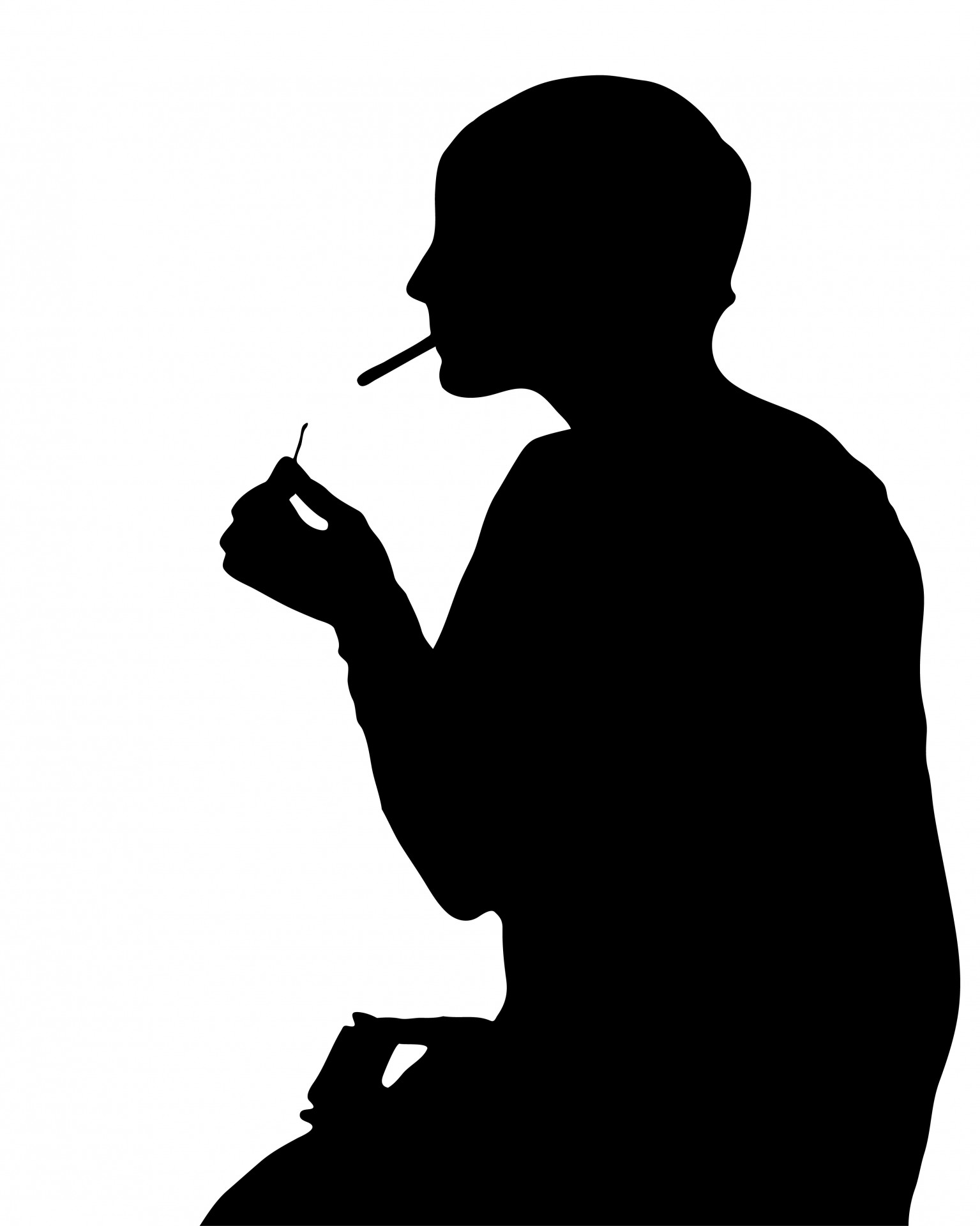 Smoking clipart silhouette Clipart Stock Smoking Clipart Silhouette