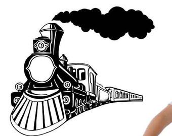 Smoking clipart train smoke Smoke Decor Decorations Decal Locomotive