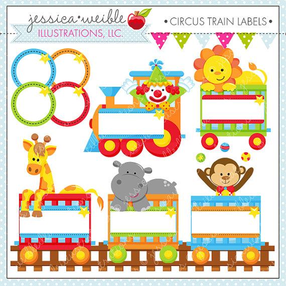 Carneval clipart circus train Use train digital  animal