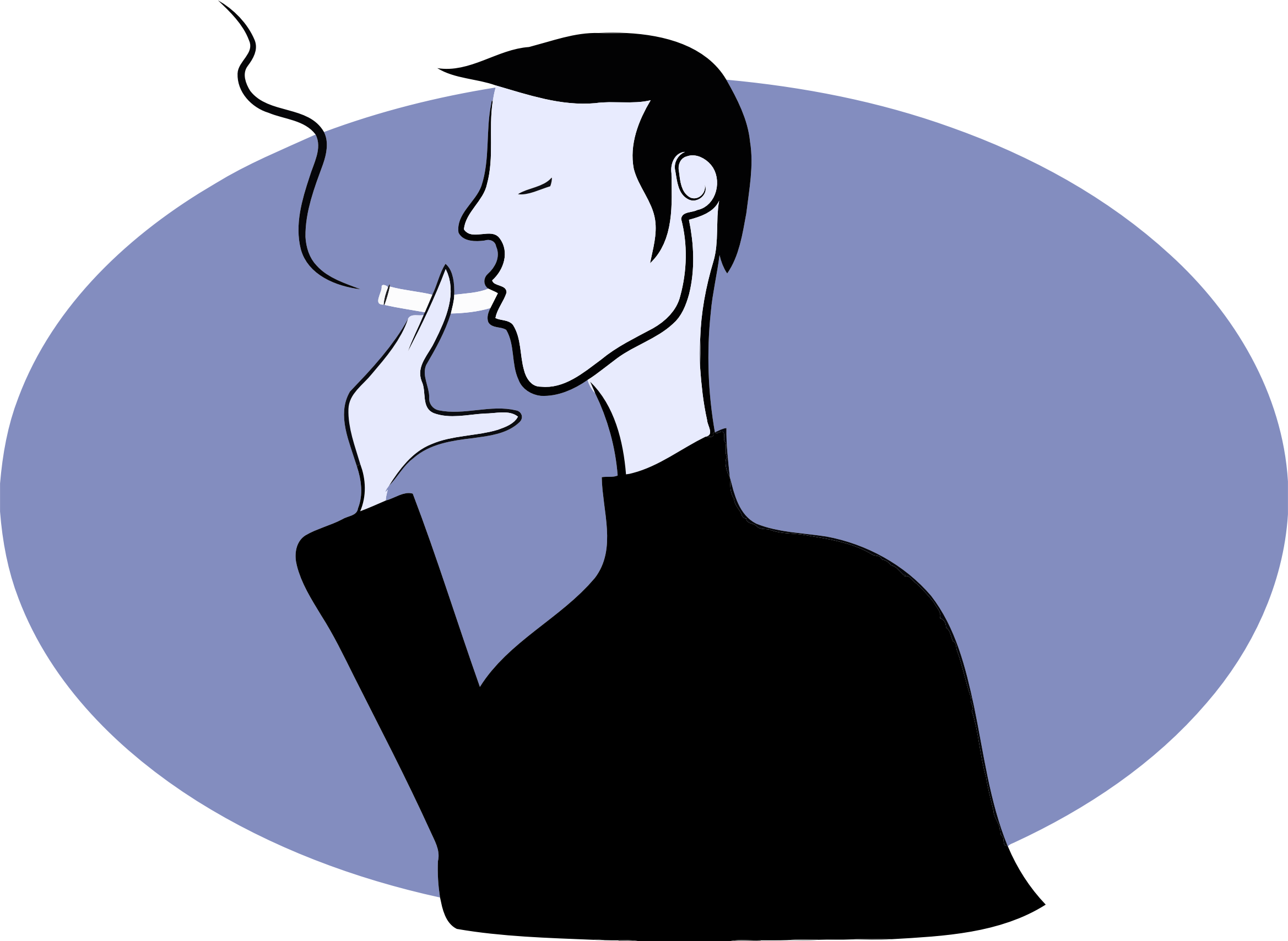 Smoking clipart transparent Man Man Smoking Clipart Smoking