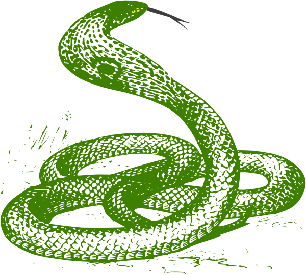 Smooth Green Snake clipart Image  Clker Clip vector