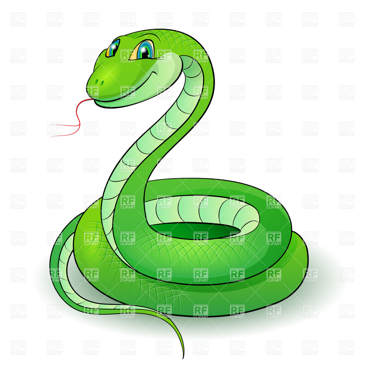Smooth Green Snake clipart Cute Clipart Clipart Clipart Info