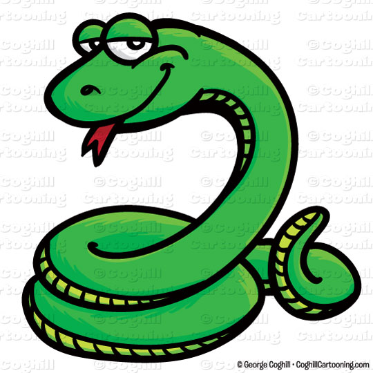 Serpent clipart Snake clip Cartooning illustration George