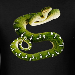 Smooth Green Snake clipart friendly Men's Shop Green T snake