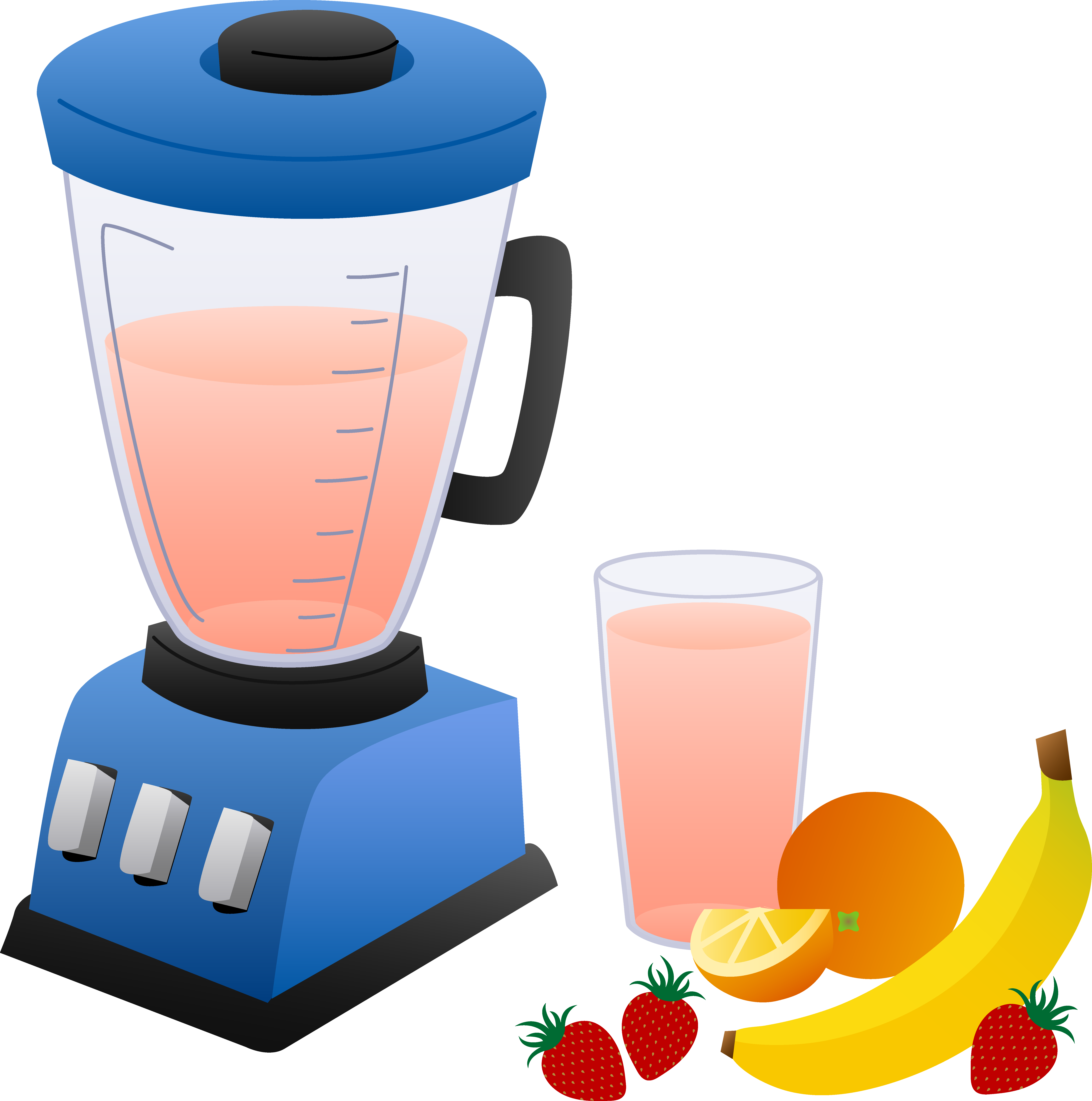 Smoothie clipart Fruits Fruits Blender and Smoothie