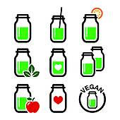 Smoothie clipart green smoothie Ingredients jar With Clip Green
