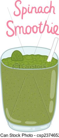 Smoothie clipart green smoothie Drawn of Vector drawn smoothie