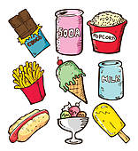Snack clipart Set GoGraph Art Free colorful