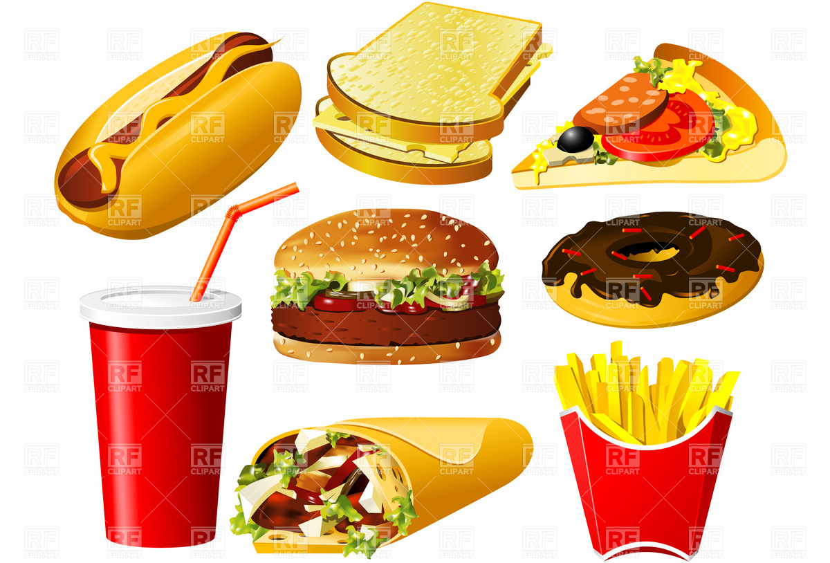 Burger clipart pizza Food clipart clipart food Fats