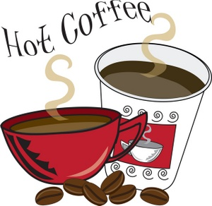 Snack clipart coffee and Served! look Burke will seeing