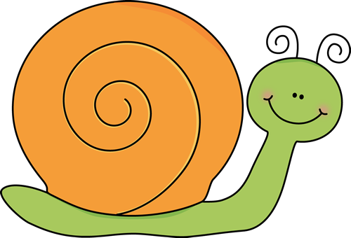 Mollusc clipart cartoon Snail Orange Snail Clip and