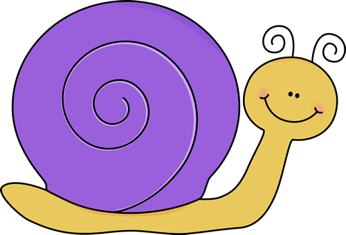 Red clipart snail #2