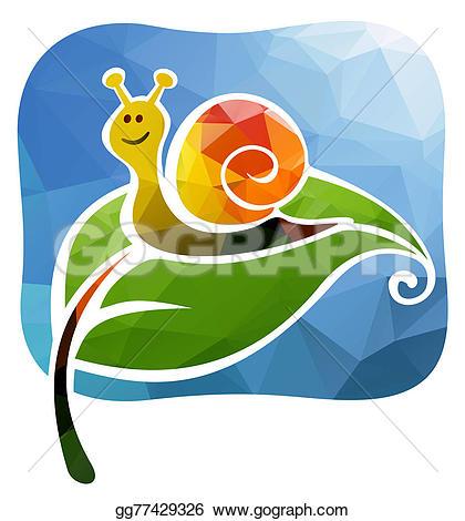 Snail clipart caterpillar Stock Stock a Cartoon green