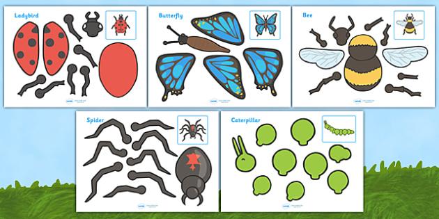 Caterpillar clipart minibeast Minibeasts Split Characters split Split