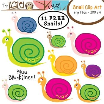 Snail clipart caterpillar Art FREE for Set: Teachers