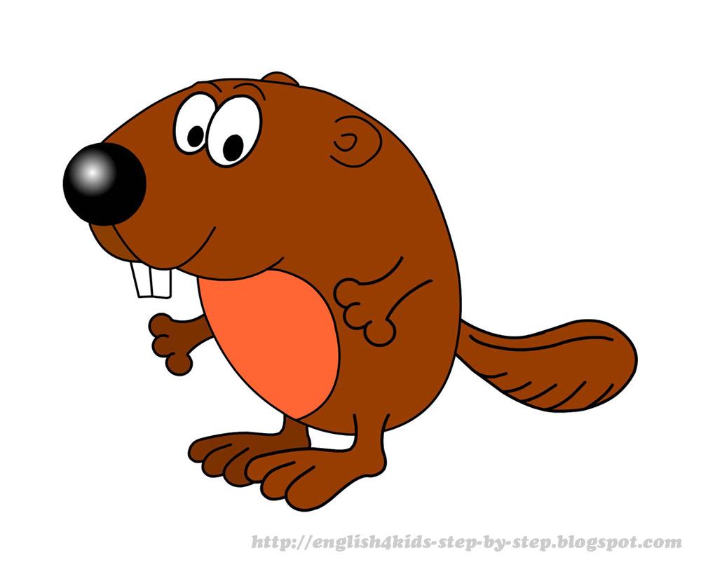 Beaver clipart squirrel cartoon For cute Forest Animals Teachers: