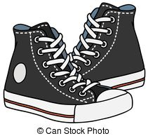 Sneakers clipart Of Sneakers Black sneakers Sneakers