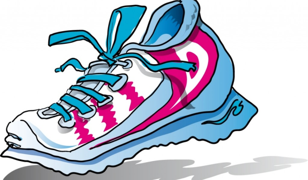 Cartoon clipart running shoe Running Running art wings image
