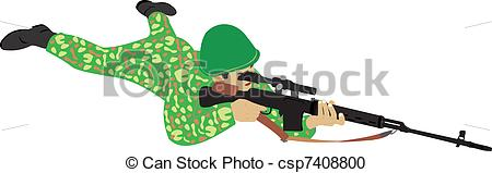 Sniper clipart military man The well The Clipart aimed