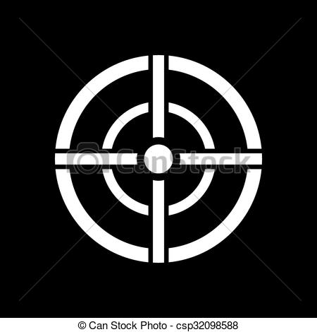 Sniper clipart aim Icon Vector symbol Crosshair The