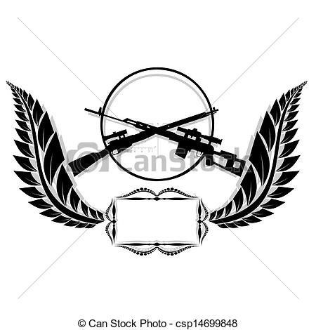 Snipers clipart army logo Rifles Sniper rifles  The