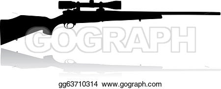 Sniper clipart black and white Gg63710314 Art Vector GoGraph background