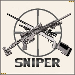 Sniper clipart crossed rifle & Embroidered Rifles Reticle Scope